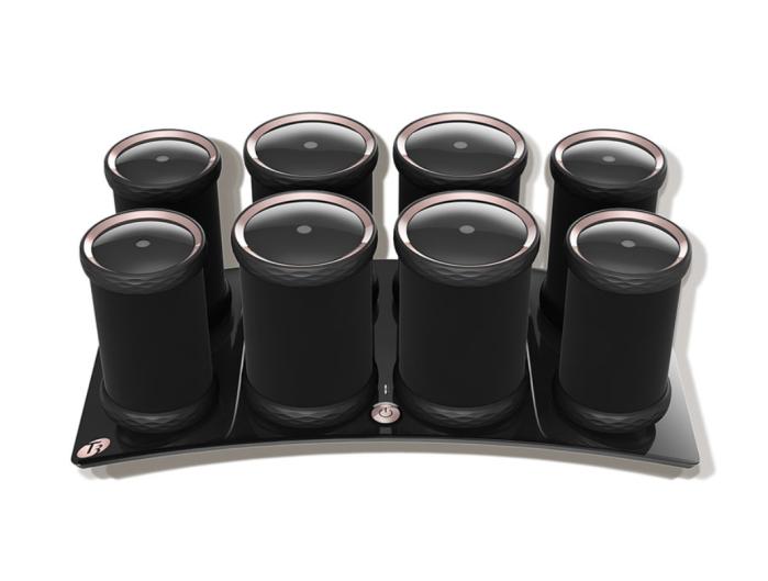 Rulos calientes para dar volumen T3 LUXE para volumen, cuerpo y brillo (8 unidades)