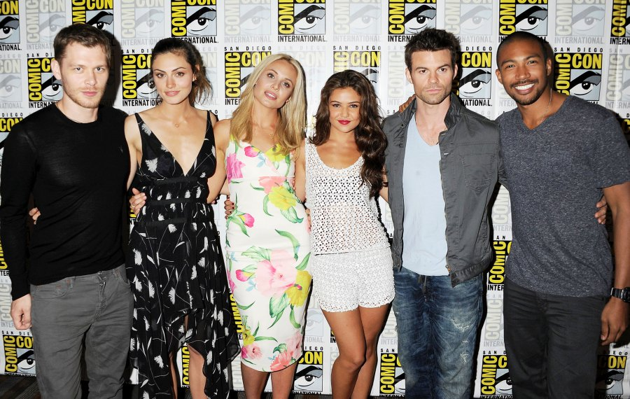 Joseph Morgan Phoebe Tonkin Claire Holt Danielle Campbell and Daniel Gillies at The Originals Photocall The Originals Cast Where Are They Now