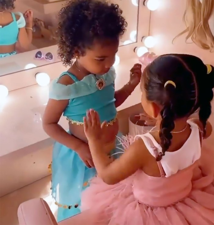 Watch Chicago West Do True Thompson's Makeup With KKW Beauty