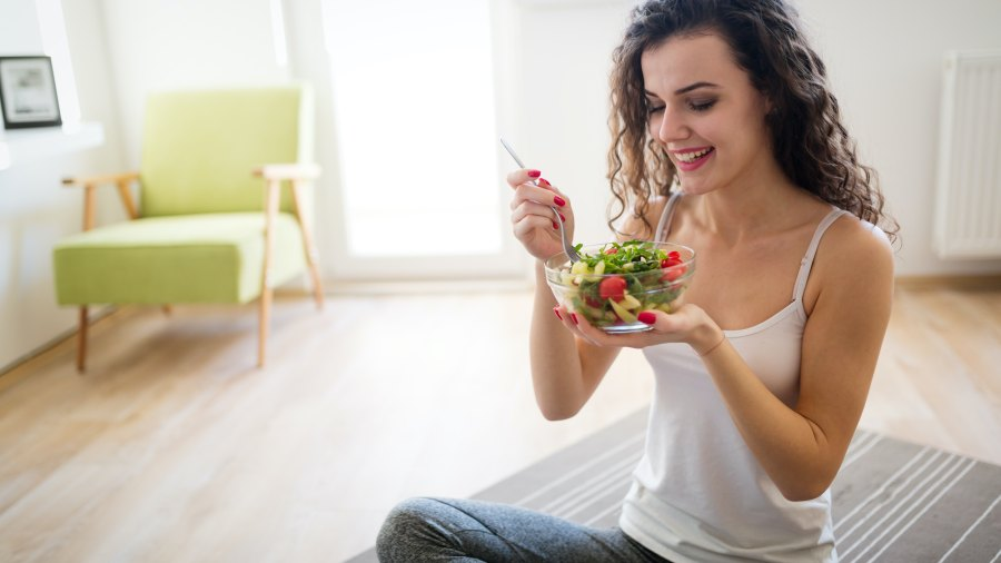 Woman-Healthy-Eating-Stock-Photo