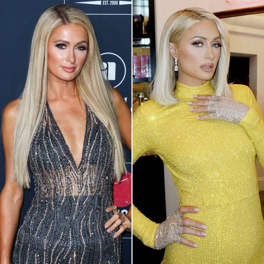 Paris Hilton Celebrity Hair Transformations of 2021