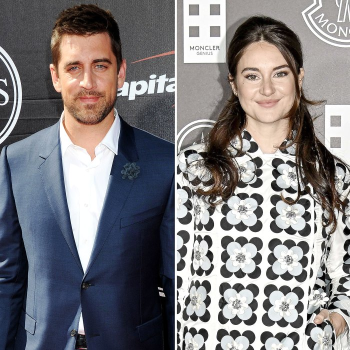 Aaron Rodgers Shailene Woodley Cuddle Their Pooch During Beach Date