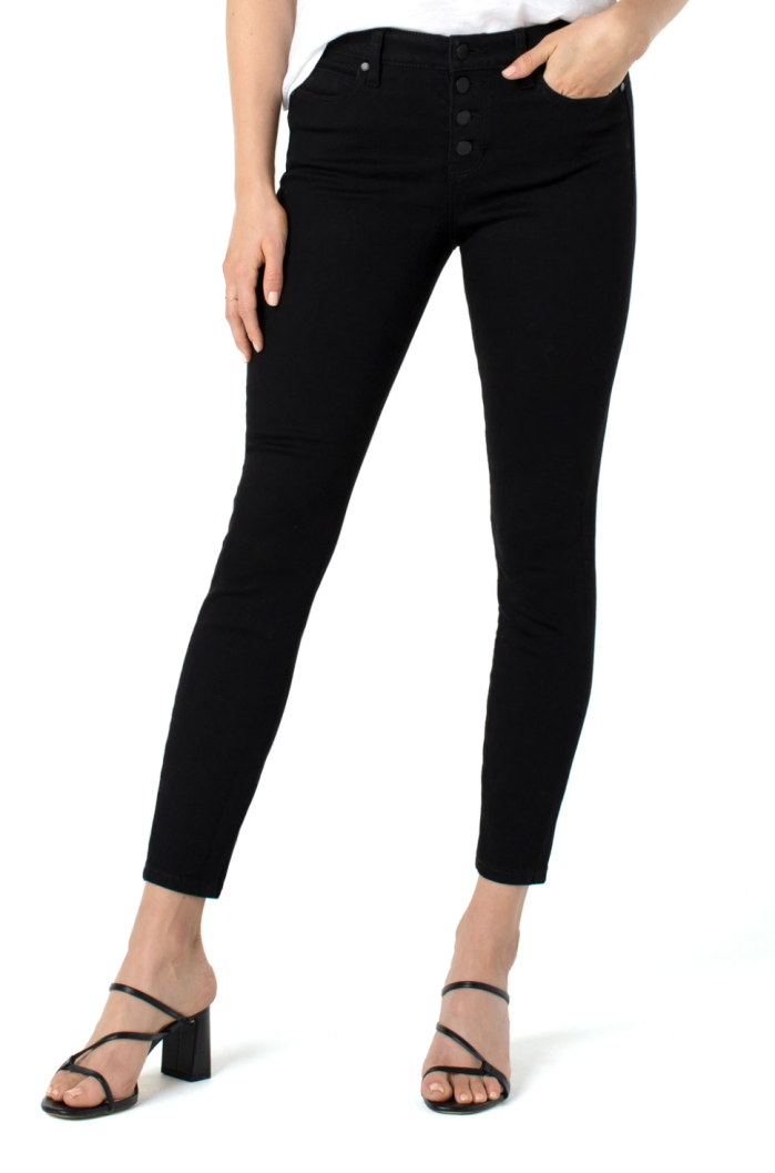 Abby Ankle Skinny With Exposed Buttons Eco