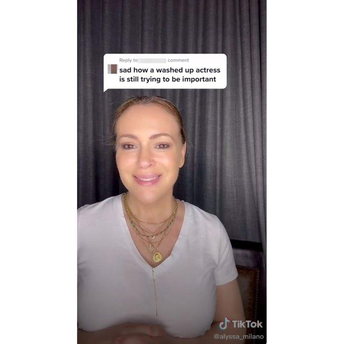 Alyssa Milano Responds To Troll TikTok
