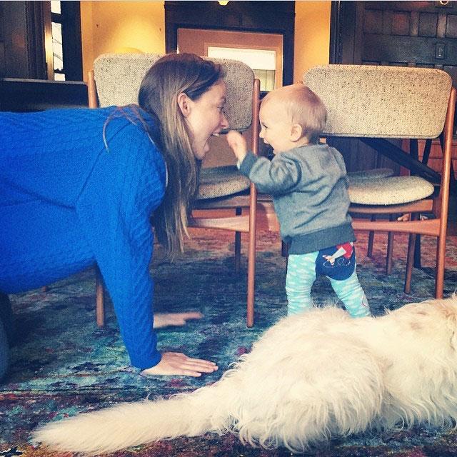 April 2015 Jason Sudeikis Instagram Jason Sudeikis and Olivia Wilde Family Photos