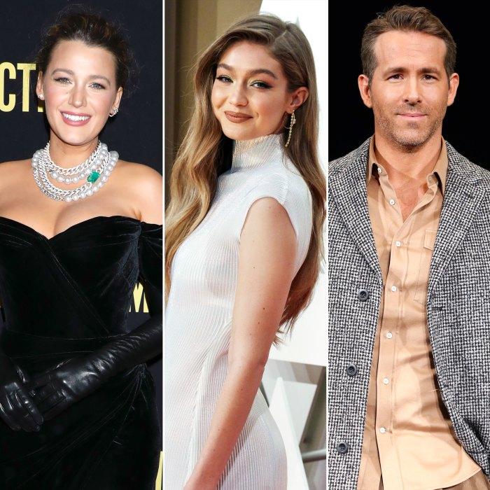 Blake Lively bromea que hace una 'mejor pareja' con Gigi Hadid que Ryan Reynolds