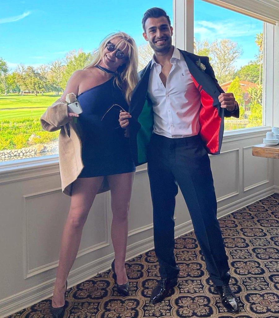 Britney Spears Cozies Up to Boyfriend Sam Asghari at Wedding Amid Conservatorship Battle
