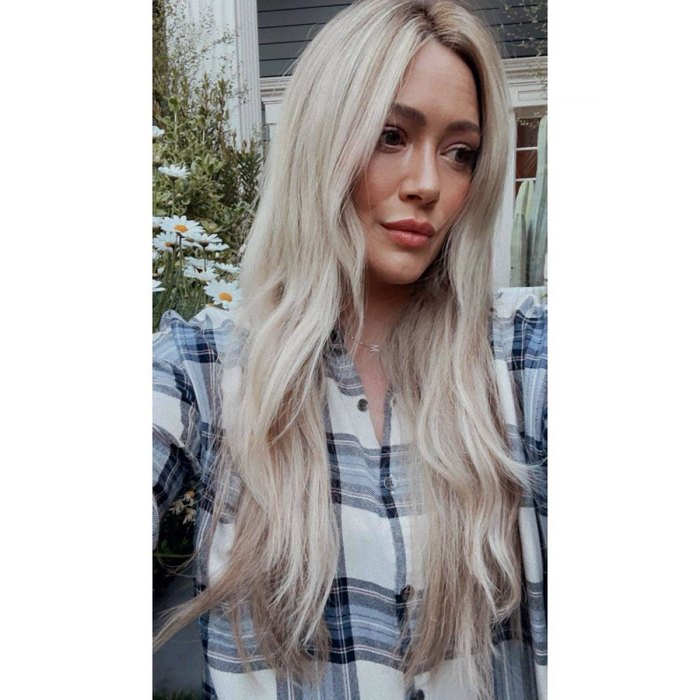 Back to Blonde! Hilary Duff Ditches Blue Hair