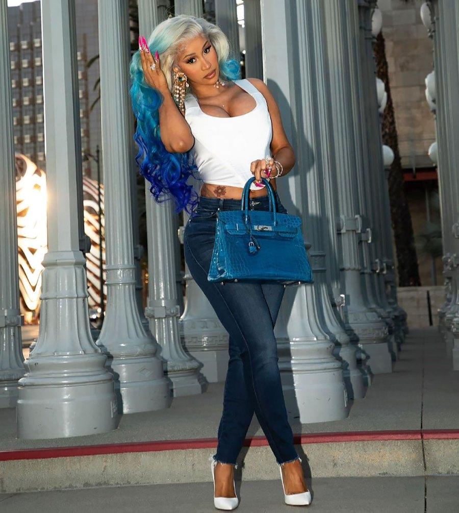 Okurrr! Cardi B Debuts the Coolest Blue Hair Transformation