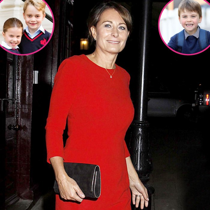 Carole Middleton anima al príncipe George a la princesa Charlotte al príncipe Louis a ensuciarse un poco