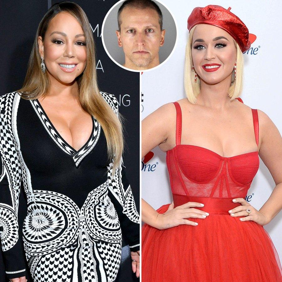 Mariah Carey Katy Perry Celebrities React Derek Chauvin Verdict