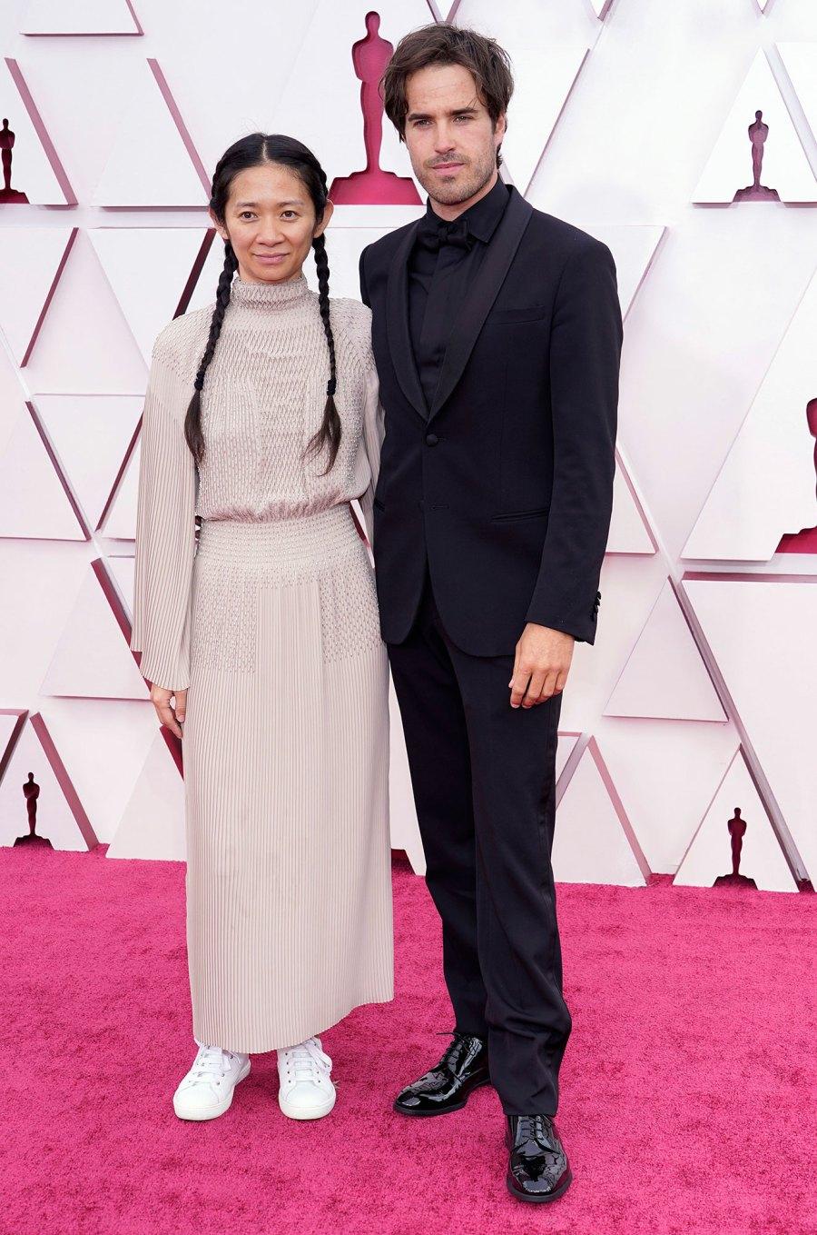Chloe Zhao and Joshua James Richards Couples Dazzle at Oscars 2021