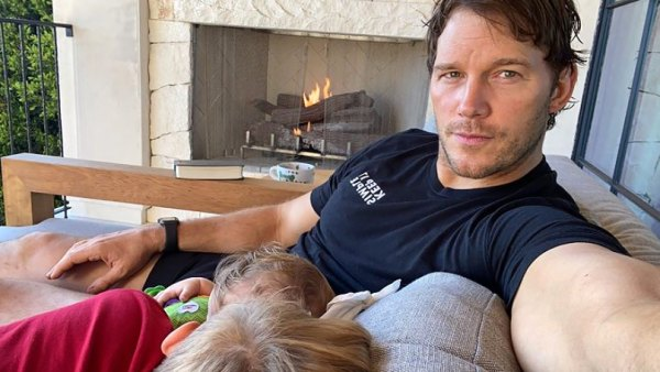 Chris Pratt Shares Sweet Selfie With Son Jack, 8, and Daughter Lyla, 8 Months: 'Baby Time'