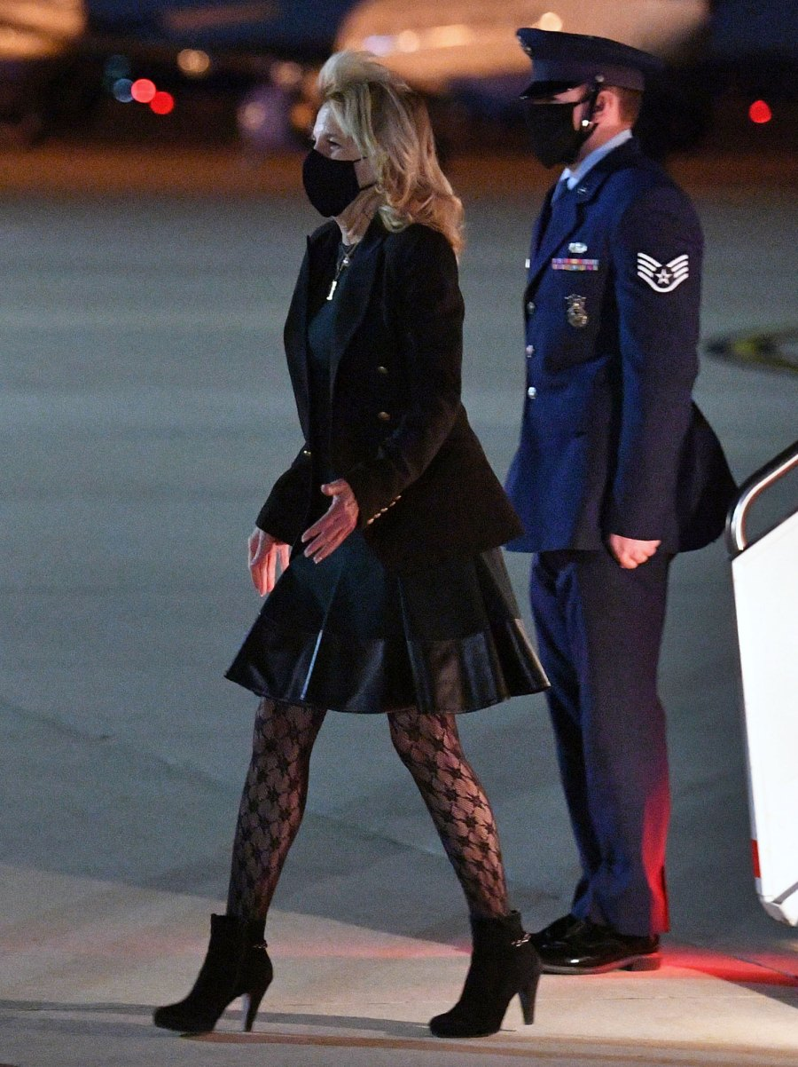 Leather Dress! Lace Tights! Jill Biden Looks Edgier Than Ever in New Pic