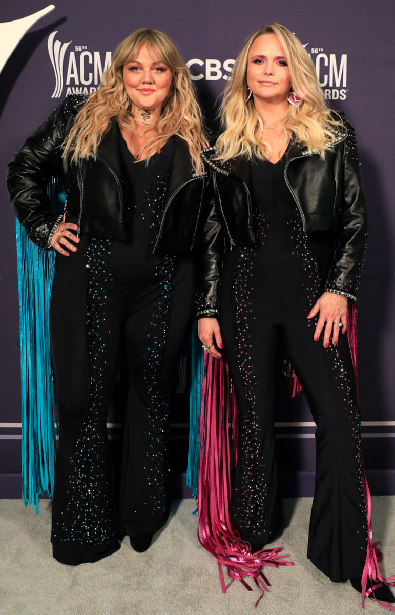 Elle King and Miranda Lambert Twin in Fringe Jackets for the 2021 ACMs: Pics