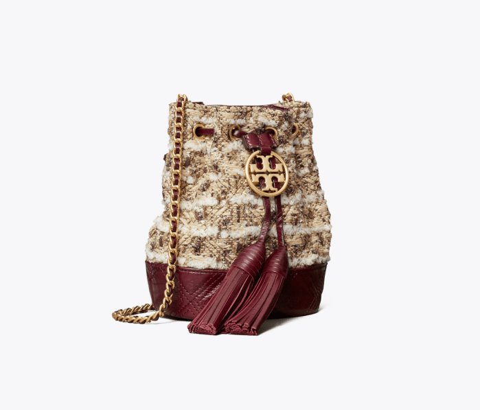 Fleming Soft Tweed Mini Bucket Bag