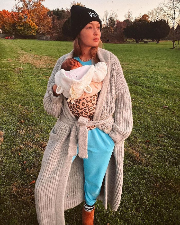Too Cute! Gigi Hadid's 7-Month-Old Daughter Khai Wears Versace Sweatsuit