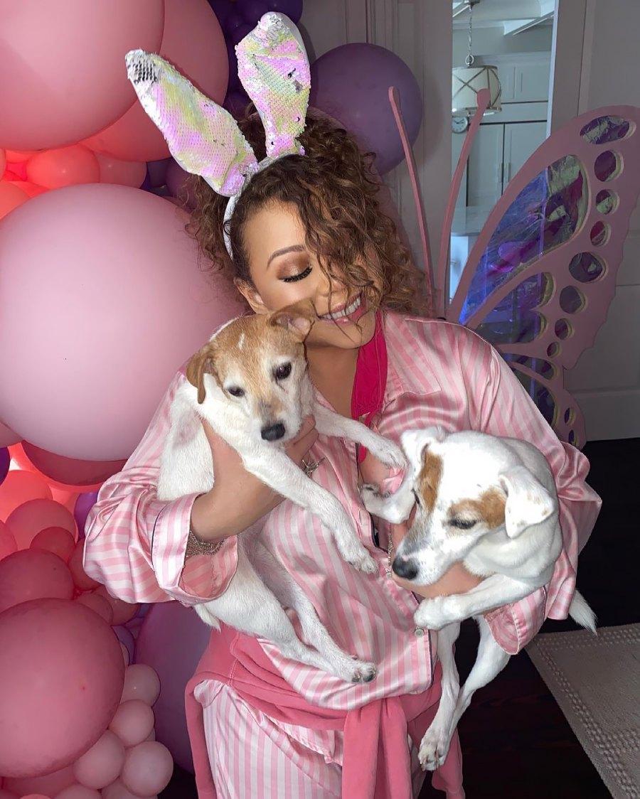 Mariah Carey How Celebs Spent Easter 2021