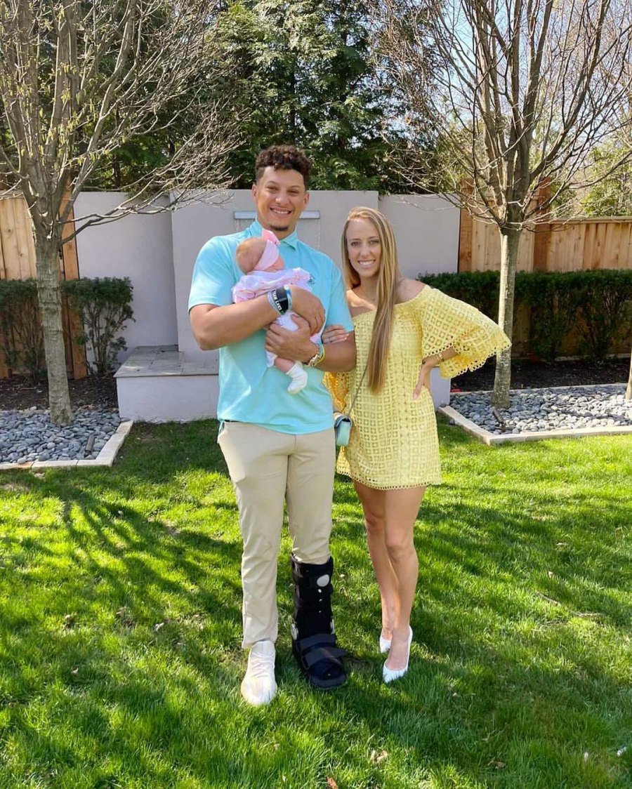 Patrick Mahomes and Brittany Matthews How Celebs Spent Easter 2021