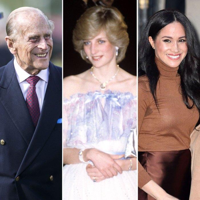 Cómo el príncipe Felipe le dio la bienvenida a la princesa Diana Meghan Markle a la familia real