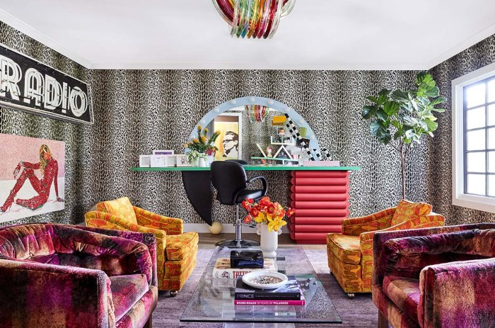 Inside Miley Cyrus Rock Roll Technicolor Filled Los Angeles Home Photos