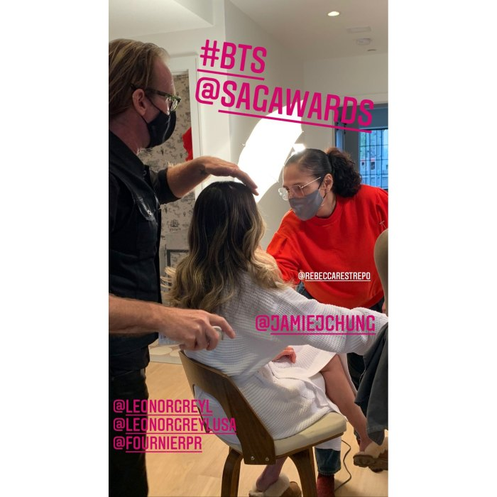 Jamie Chung Hairstylist Shares the Secret to Her Bouncy Waves at the SAG Awards 2021