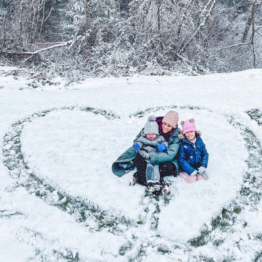 Jana Kramer, Mike Caussin's Sweetest Moments With Kids Ahead of Split Snow Cute
