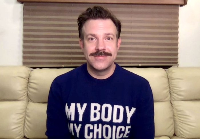 Jason Sudeikis SAGs 2021 Social Justice Sweater