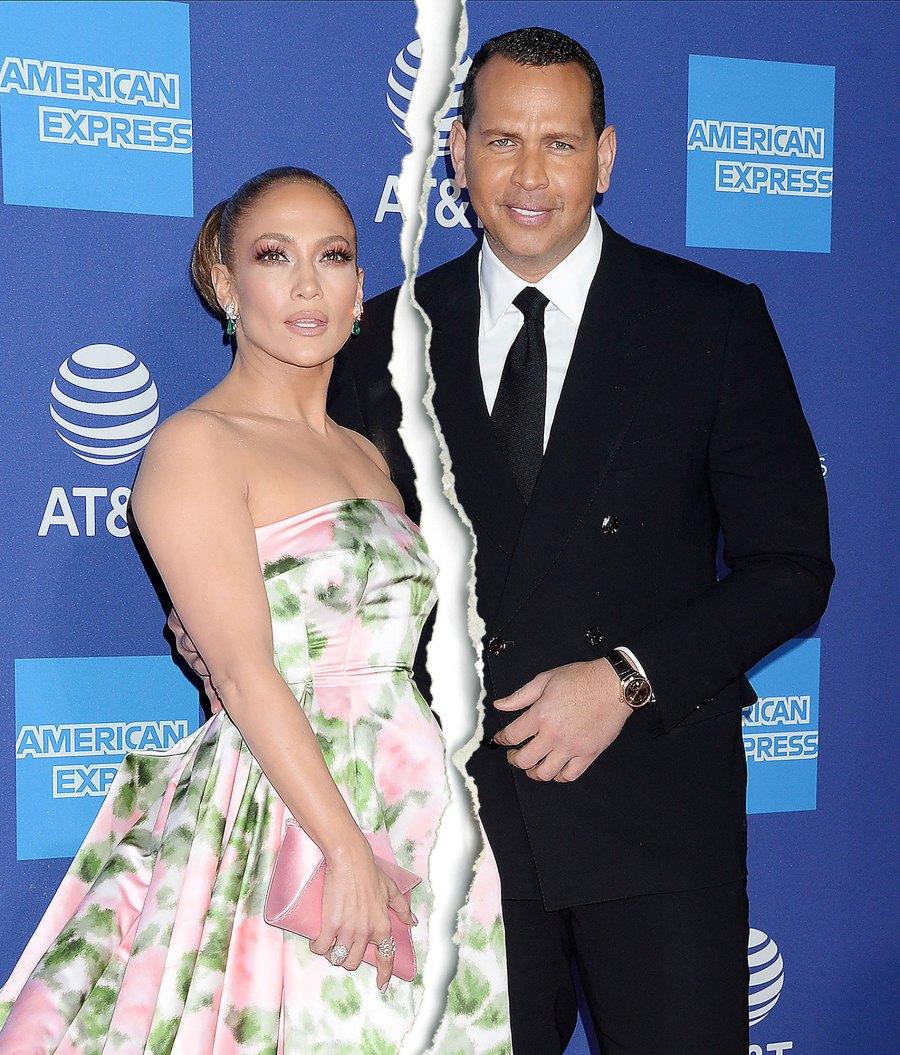 Jennifer Lopez and Alex Rodriguez Split Tear