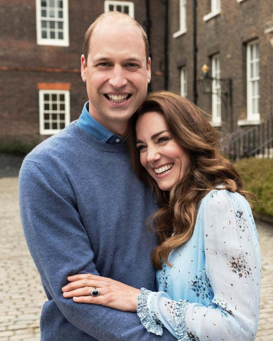 10 Years William Kate Are All Smiles New Anniversary Portrait