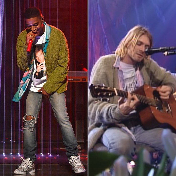 Kid Cudi rinde homenaje a Kurt Cobain y Chris Farley a través de la moda en 'Saturday Night Live'