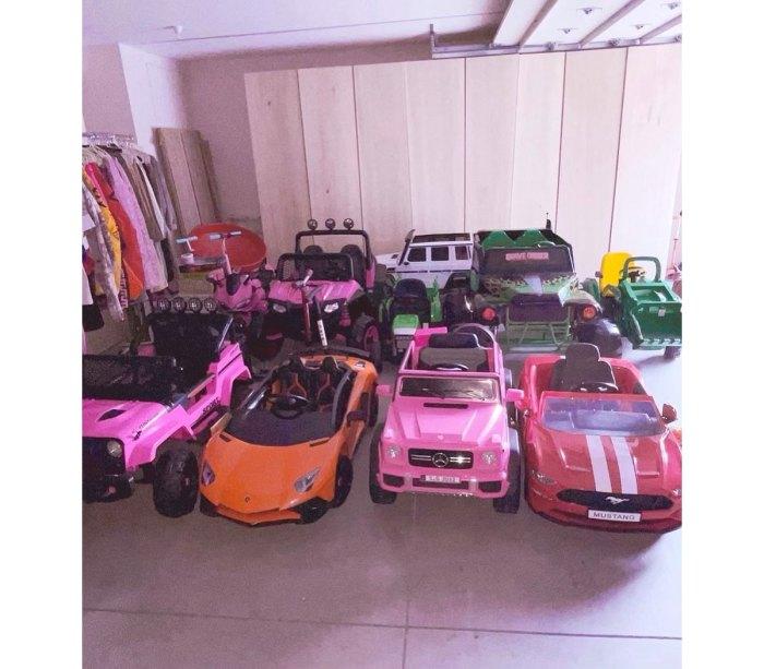 Kim Kardashian Shares Her 4 Kids Epic Garage With Mini Mustang Ferrari and More