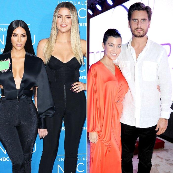 Kim y Khloe Kardashian establecen una cita con los ex Kourtney Kardashian y Scott Disick en KUWTK