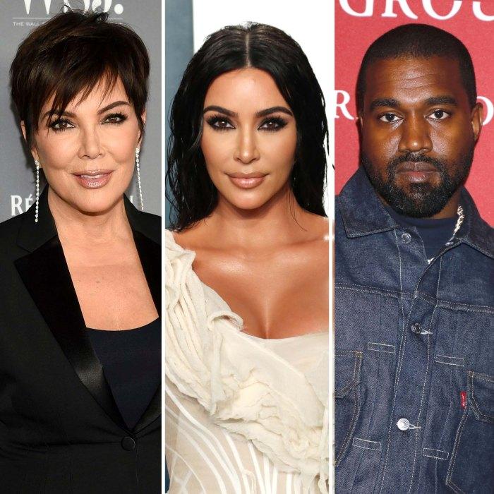 Kris Jenner le dijo a Kim K. Ponga a los niños primero en medio del divorcio de Kanye West