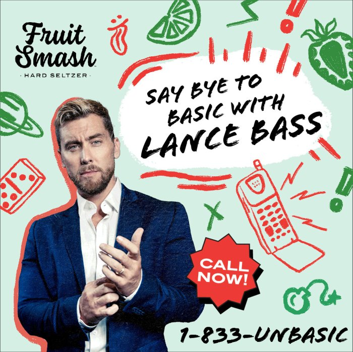 Lance Bass NSync Scared Sin ataduras Fruit Smash