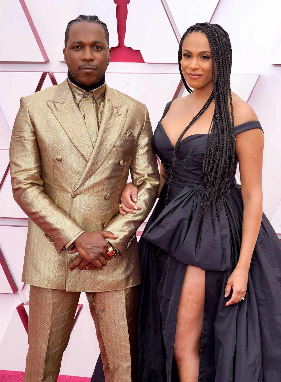 Leslie Odom Jr and Nicolette Robinson Couples Dazzle at Oscars 2021