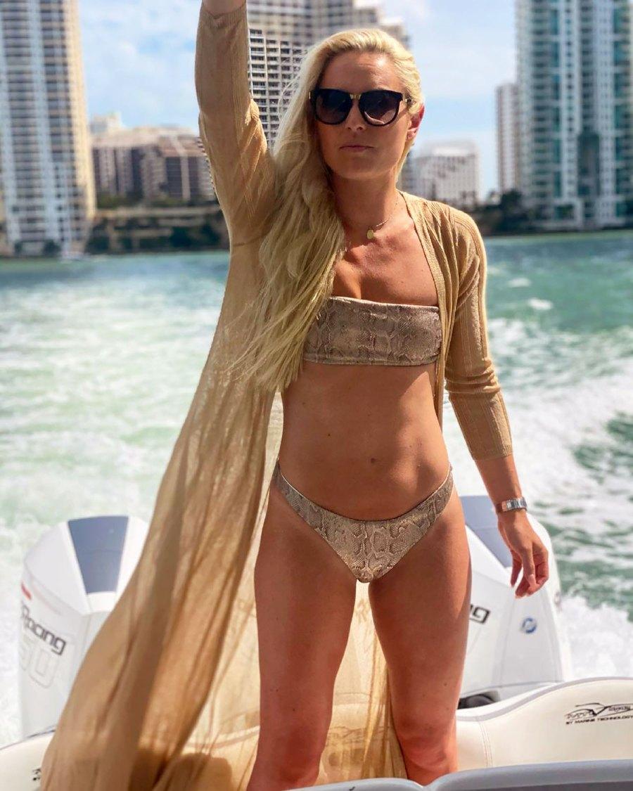 Lindsey Vonn's 6-Pack Is on Full Display in Strapless Snakeskin Bikini