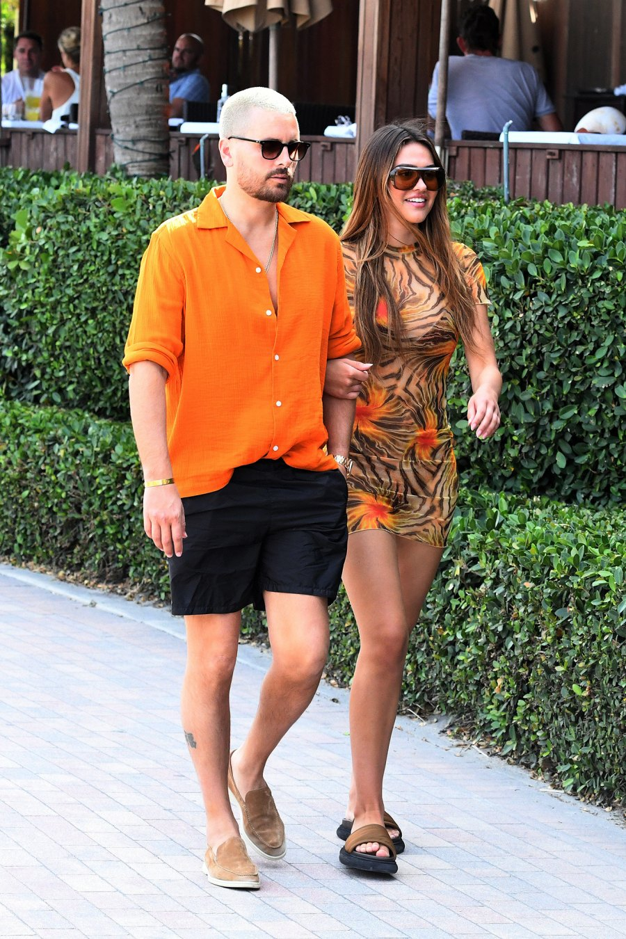Matching in Miami! Scott Disick and Amelia Gray Hamlin Keep Close on Vacation