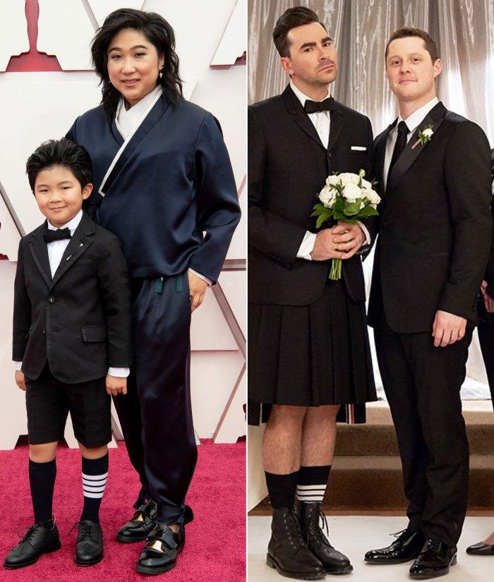 La estrella de 'Minari' Alan Kim se vistió como un mini David Rose en los Oscar 2021