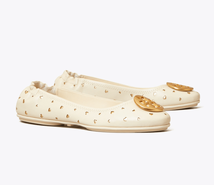 Minnie Travel Ballet Flat, Cut-Out Leather