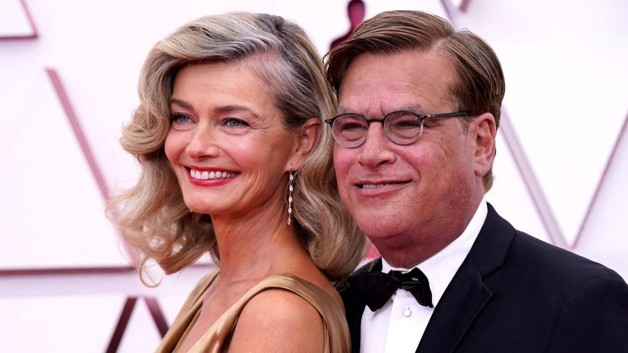 Oscars 2021 Paulina Porizkova Aaron Sorkin Make Red Carpet Debut 2021 Academy Awards