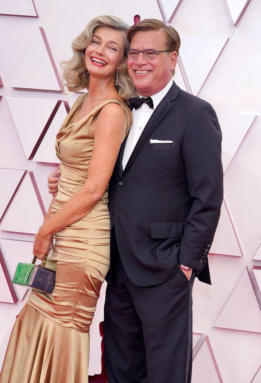 Paulina Porizkova and Aaron Sorkin Couples Dazzle at Oscars 2021