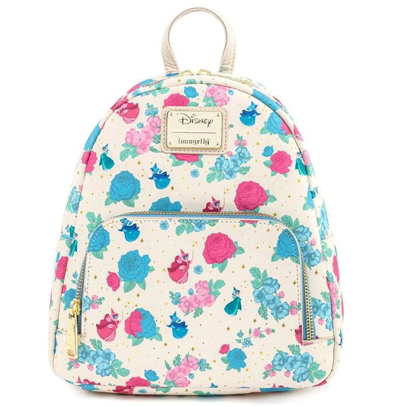 Disneys Sleeping Beauty Floral Fairy Godmothers Mini Backpack Perfect Presents Pamper This Mothers Day