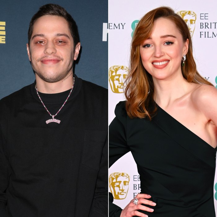 Pete Davidson And Phoebe Dynevor Wear Matching Initial Necklaces