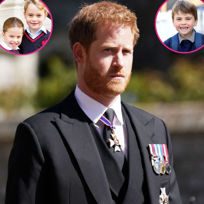 Prince Harry Didnt See George Charlotte Louis While UK Funeral