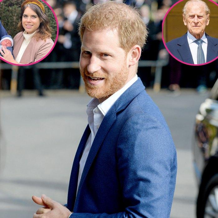El príncipe Harry conoció a su prima, la princesa Eugenia, su hijo recién nacido después de llegar a Londres, el funeral del príncipe Felipe