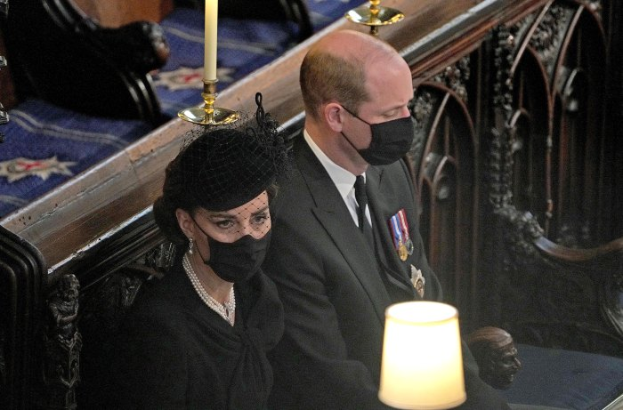 Prince William, Duchess Kate Honor 'Devoted' Prince Philip After Sitting Side by Side at His Funeral