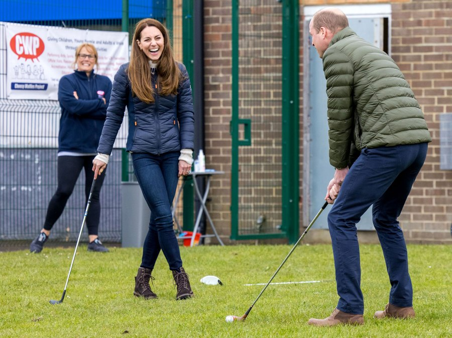 Prince William Kate Have Laugh Over Their Golfing Fail Durham