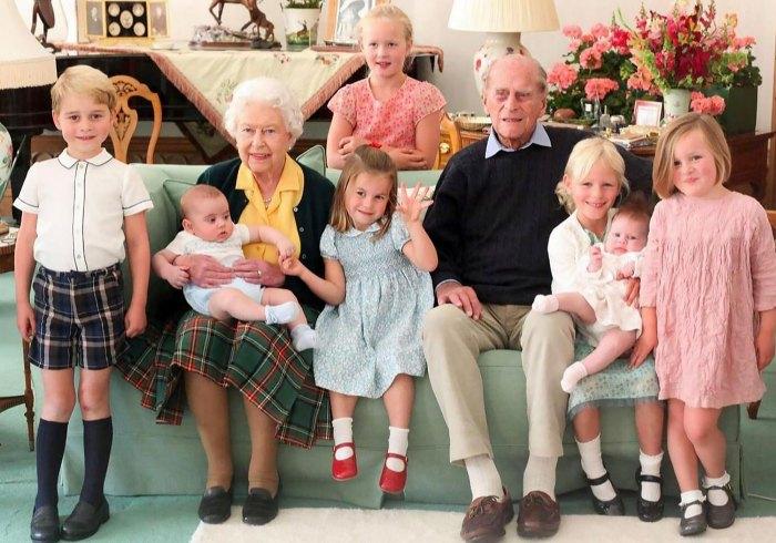 Queen Elizabeth II Prince Philip Pose With Great Grandchildren Never Before Seen Photos