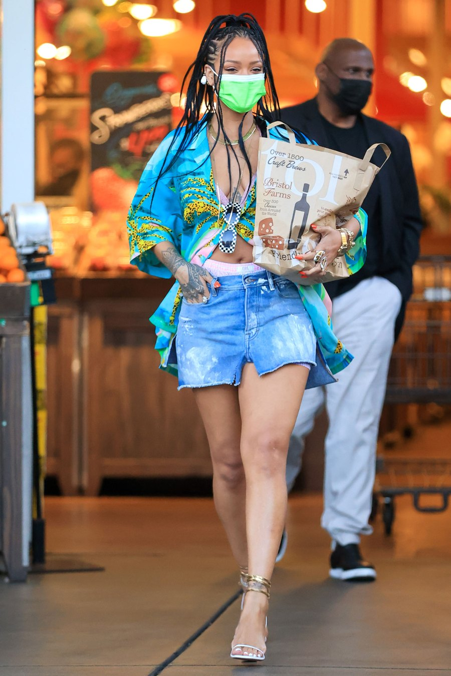 Rihanna Just Like Us They Carry Their Own Groceries